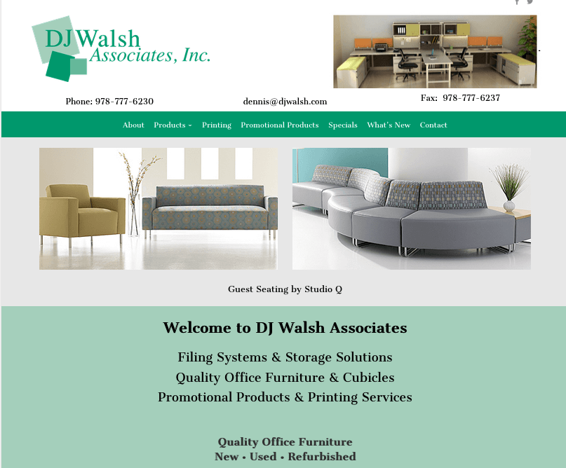dj walsh office furniture website