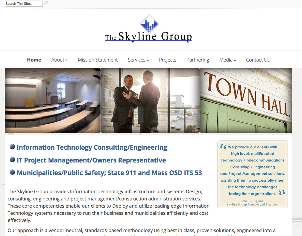 the skyline group website