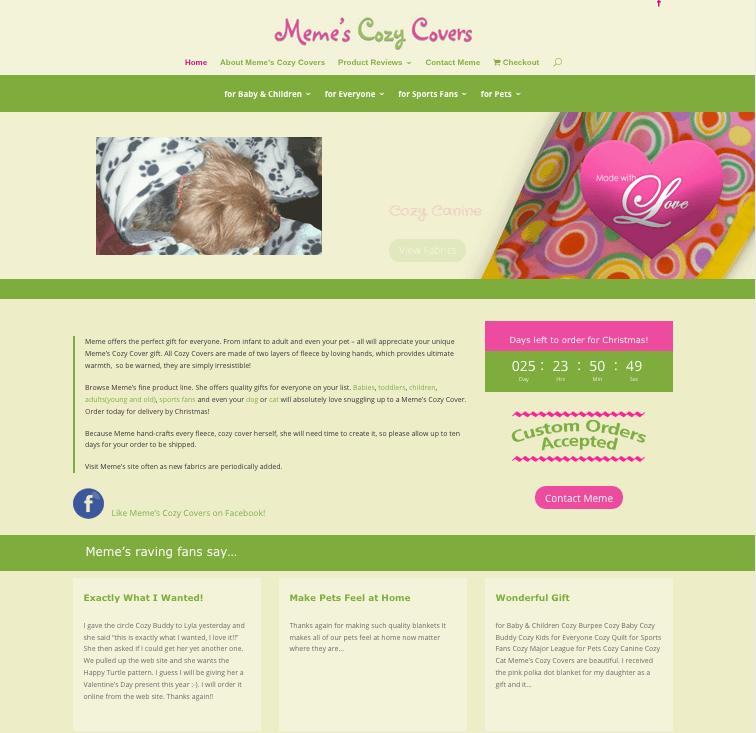 meme's cozy covers website